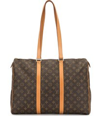 louis vuitton 1998 pre-owned sac flanerie 45 travel bag - brown