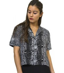 blusa manga corta pitón grey multicolor eclipse