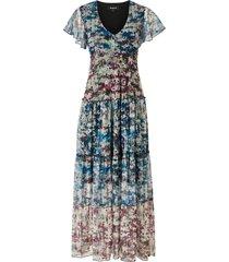 maxiklänning knit dress short sleeve