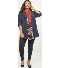 lane bryant women's chain-link colorblock scarf onesz venetian red