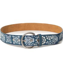 cinturón denim azul desigual