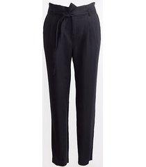 loft tall tie high waist linen cotton tapered pants