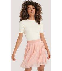 na-kd mini pleated skirt - pink