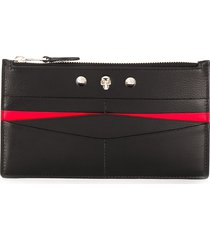 alexander mcqueen studded card holder - black