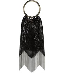 black sequin rio bracelet bag