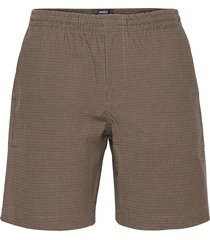 comfort check perley shorts casual brun mads nørgaard