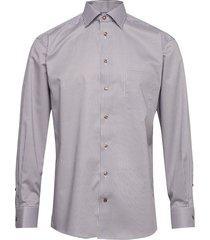 beige micro flower shirt overhemd business multi/patroon eton