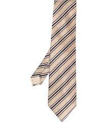 brioni striped silk tie - neutrals