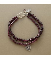 double garnet bracelet