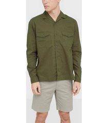 premium by jack & jones jprblabrentford overshirt l/s skjortor mörk grön