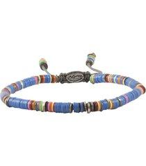 african blue vinyl oxidized disc bracelet