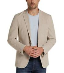 joe joseph abboud tan seersucker slim fit casual coat