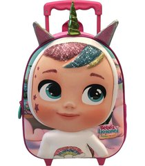 mochila 3d con ruedas dreamy multicolor cry babies