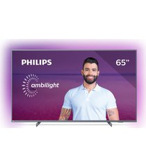 "smart tv philips 65"", 4k ultra hd led 65pug6794/78, wi-fi integrado"
