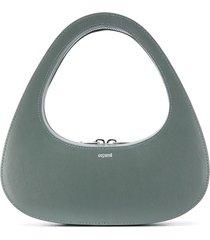 coperni swipe baguette shoulder bag - green