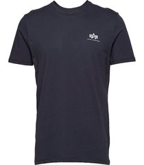 basic t small logo t-shirts short-sleeved blå alpha industries