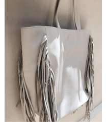 bolso blanco mulher indian