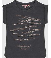 camiseta gris-café boboli