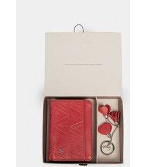 kit billetera de cuero grabado  llavero flores