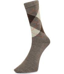 burlington preston brown argyle socks 24284 5256