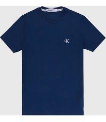 camiseta azul-blanco calvin klein
