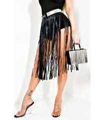 akira play your part rhinestone fringe belt