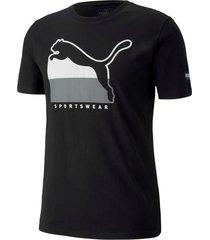 camiseta athletics tee big logo puma mujer 581333 01 negro