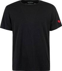 neil barrett heart patched t-shirt