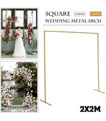 etapa marco de fondo del fondo de hierro forjado puesto de flores decorativas de la boda de encargo de oro plataforma arco cuadrado - oro