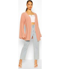 wide sleeve belted kimono, rose