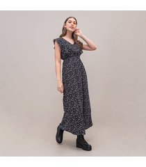 vestido amplio largo manga sisa tweezers