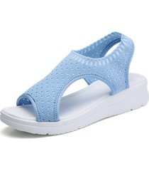 zapatos planos femeninos sandalias de cuña