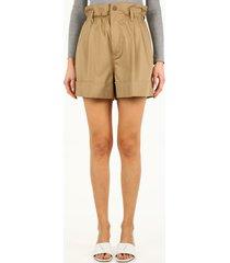 moncler beige high-waisted shorts
