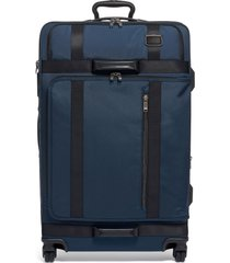 tumi merge 31-inch recycled extended trip expandable rolling suitcase - blue