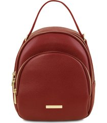 tuscany leather tl141743 tl bag - zaino donna in pelle rosso