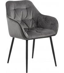 krzesło fotel tapicerowany wayn szary