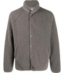 ymc faux shearling beach jacket - grey