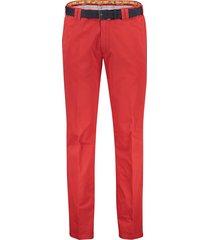 meyer pantalon oslo met riem rood katoen