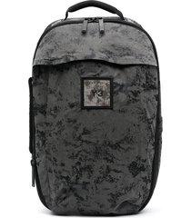 y-3 zip-up velour backpack - black