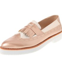 zapato dama cobre tellenzi 7093