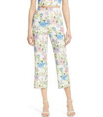 women's alice + olivia lorinda floral crop trousers