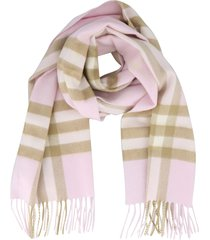 burberry giant check print motif scarf