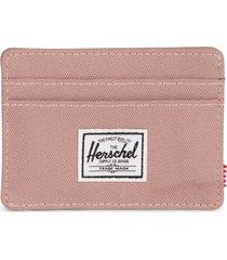 herschel supply co. charlie rfid card case in ash rose at nordstrom