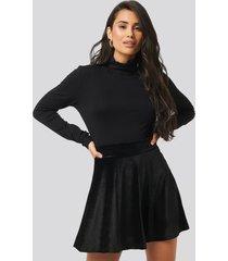 trendyol velvet knitted skirt - black