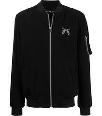 roar rhinestone-embellished bomber jacket - black
