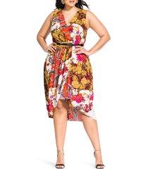 plus size women's city chic opulence fit & flare dress