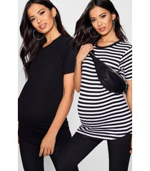maternity 2 pack oversized t shirt, multi
