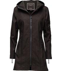 hip-length softshell raincoat regenkleding zwart ilse jacobsen