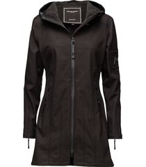 hip-length softshell raincoat regenkleding zwart ilse jacobsen
