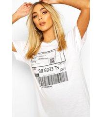 barcode print t-shirt, white